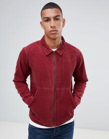 Вельветовая куртка на молнии Another Influence - Красный 1281503