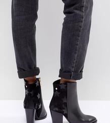 Кожаные полусапожки на каблуке Tommy Hilfiger - Черный 1248548