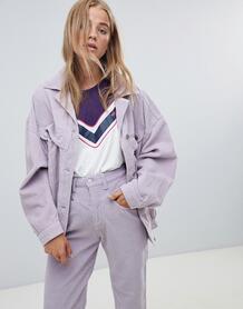 Вельветовая oversize-куртка Wrangler - Фиолетовый 1335835