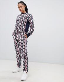 Спортивные штаны от костюма со сплошным принтом Champion - Темно-синий 1300315