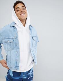 Джинсовая куртка с заниженной линией плеч MENNACE - Синий 1318055