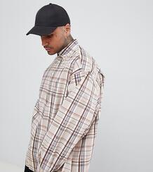 Oversize-рубашка в клетку ADD - Светло-бежевый 1309095
