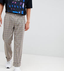 Светло-бежевые брюки широкого кроя в клетку ADD - Светло-бежевый 1309075