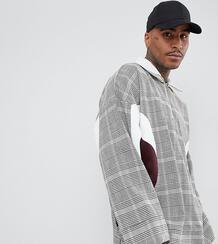 Oversize-куртка в клетку с молнией до груди ADD - Коричневый 1309098