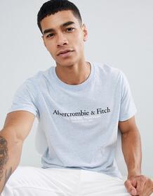 Голубая футболка с принтом логотипа Abercrombie & Fitch - Синий Abercrombie& Fitch 1341672