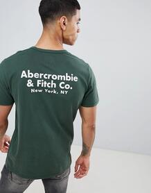 Зеленая футболка с принтом на спине Abercrombie & Fitch - Зеленый Abercrombie& Fitch 1341677