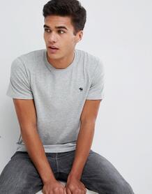 Серая футболка с круглым вырезом Abercrombie & Fitch Pop Icon - Серый Abercrombie& Fitch 1341781