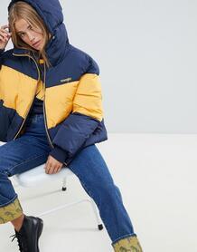 Сине-желтая дутая куртка Wrangler - Желтый 1335855