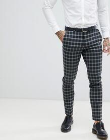 Серые брюки скинни в клетку Twisted Tailor - Серый 1225972