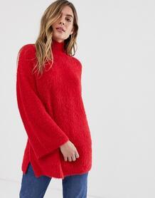 Пушистый джемпер с широкими рукавами New Look - Красный 1353105