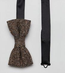Твидовый галстук-бабочка Heart & Dagger - Коричневый 1216624