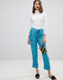 Жаккардовые брюки галифе Vero Moda - Черный 1335359
