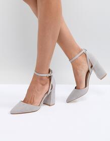 Серые туфли на блочном каблуке RAID Katy - Серый 1240872