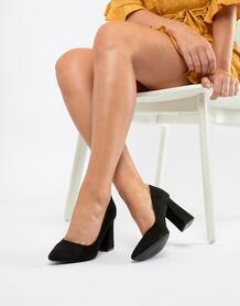 Черные туфли на блочном каблуке RAID Cambria - Черный 1296034