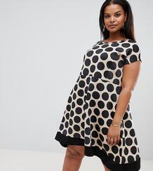 Приталенное платье в горошек Praslin - Мульти 1278170