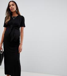 Платье макси для кормления с двухслойной перекрученной отделкой ASOS D Asos Maternity 1332563