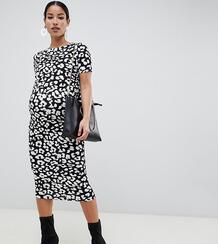 Облегающее платье со звериным принтом ASOS DESIGN Maternity - Мульти Asos Maternity 1330160