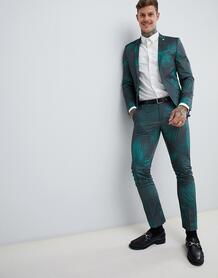 Супероблегающие брюки с принтом Twisted Tailor - Зеленый 1225947