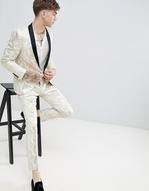 Золотистые брюки супероблегающего кроя Twisted Tailor - Золотой 1226007