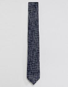 Темно-синий галстук с решетчатым узором Selected Homme - Темно-синий 1303950
