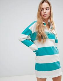 Свободное платье-футболка регби в полоску Boohoo - Мульти 1344855