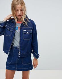 Куртка с контрастными отделочными швами Wrangler - Синий 1335819