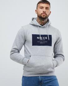 Худи серого цвета с логотипом Nicce - Серый Nicce London 1249499