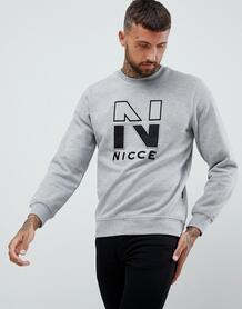 Серый свитшот с логотипом Nicce - Серый Nicce London 1249501