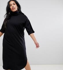 Свободное платье миди с широкими рукавами ASOS DESIGN Curve - Черный Asos Curve 1297057