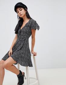 Чайное платье в горошек Missguided - Черный 1339240