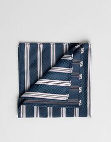 Зеленый платок для нагрудного кармана в полоску ASOS DESIGN - Зеленый 1329369