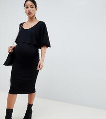 Облегающее платье миди для кормления с кейпом ASOS DESIGN Maternity Asos Maternity 1330157