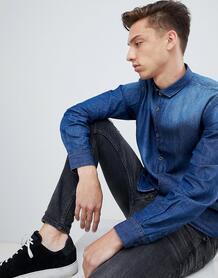 Выбеленная приталенная джинсовая рубашка в винтажном стиле Brave Soul 1300607