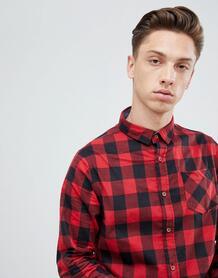 Фланелевая рубашка в крупную клетку Brave Soul - Красный 1300597