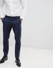 Синие супероблегающие брюки в клетку Twisted Tailor - Синий 1225968