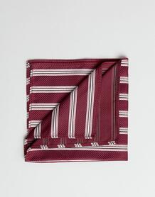 Бордовый платок для нагрудного кармана в полоску ASOS DESIGN - Красный 1329371