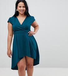 Платье мини с запахом AX Paris Plus - Зеленый 1298126
