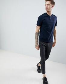 Темно-синяя футболка в стиле ретро Original Penguin из пике с маленьки 1330087