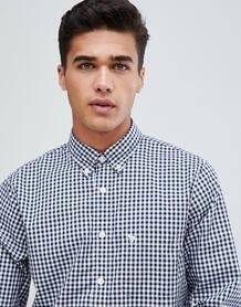 Темно-синяя поплиновая рубашка зауженного кроя Abercrombie & Fitch Сor Abercrombie& Fitch 1298223