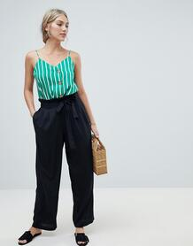 Широкие брюки с поясом Vero Moda - Черный 1314964