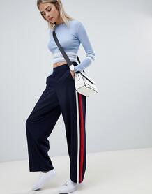 Широкие брюки с полосой по бокам Only - Темно-синий 1297499