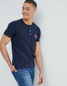 Темно-синяя футболка хенли с логотипом Abercrombie & Fitch Abercrombie& Fitch 1298193