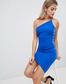 Асимметричное платье на одно плечо Missguided - Синий 1286232