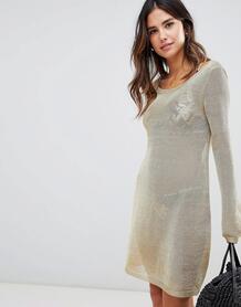 Трикотажное пляжное платье Minkpink Stay Golded - Золотой 1169932
