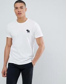 Белая футболка с круглым вырезом Abercrombie & Fitch - Белый Abercrombie& Fitch 1298200