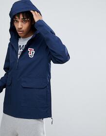 Темно-синяя куртка с капюшоном и логотипом на рукаве Tommy Jeans 1292803