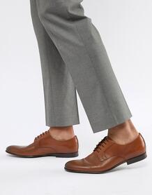 Светло-коричневые кожаные дерби PS Paul Smith Gould - Рыжий 1271286