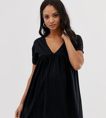 Свободное хлопковое платье ASOS DESIGN Maternity Ultimate - Черный Asos Maternity 1330147