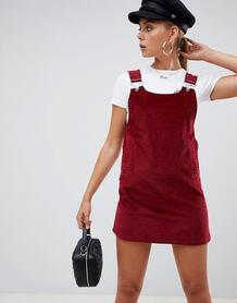 Вельветовое платье-сарафан Missguided - Красный 1324981