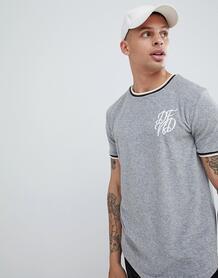 Махровая футболка с контрастной отделкой DFND - Серый 1294591